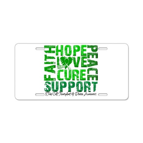 Hope Cure Faith SCT Aluminum License Plate