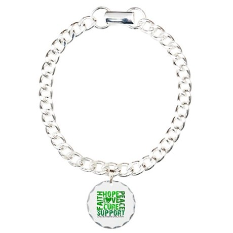 Hope Cure Faith SCT Charm Bracelet, One Charm