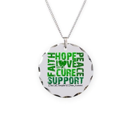 Hope Cure Faith SCT Necklace Circle Charm