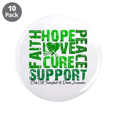 "Hope Cure Faith SCT 3.5"" Button (10 pack)"