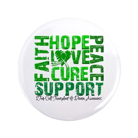 "Hope Cure Faith SCT 3.5"" Button (100 pack)"