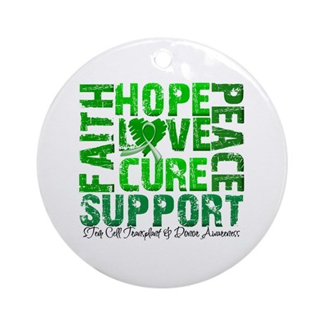 Hope Cure Faith SCT Ornament (Round)
