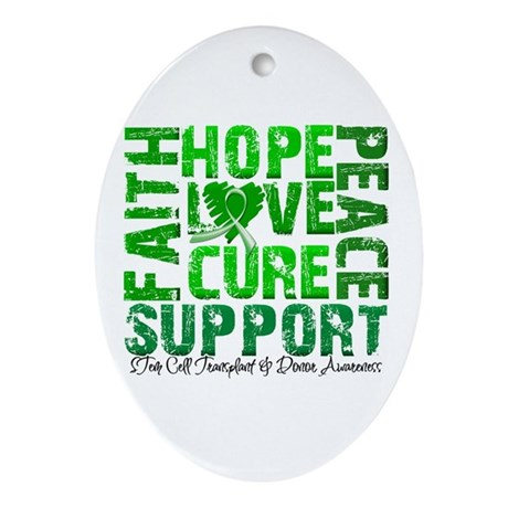 Hope Cure Faith SCT Ornament (Oval)