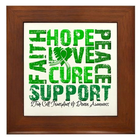 Hope Cure Faith SCT Framed Tile
