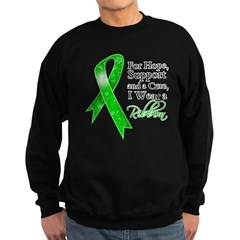 Hope Cure Green Ribbon Sweatshirt (dark)