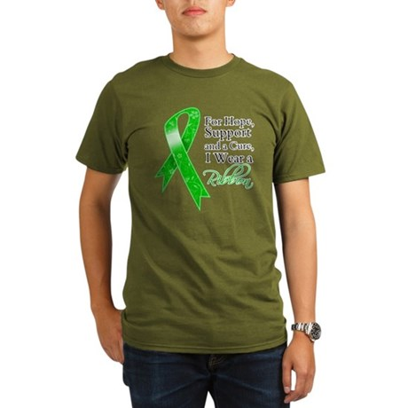 Hope Cure Green Ribbon Organic Men's T-Shirt (dark