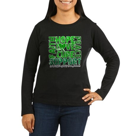 Hope Cure Faith SCT Women's Long Sleeve Dark T-Shi