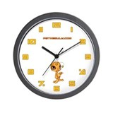 Orange N.E.L.F Wall Clock