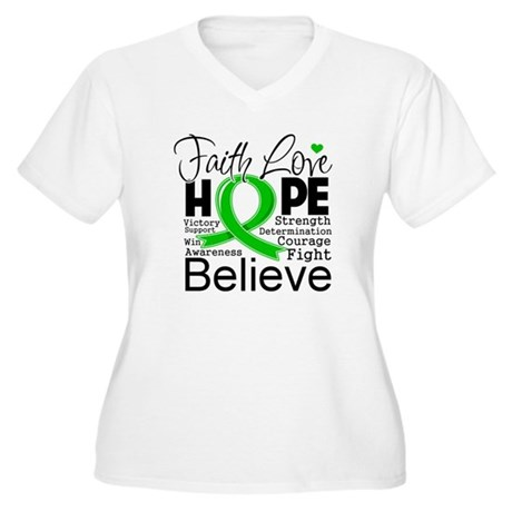 Faith Love Hope BMT SCT Women's Plus Size V-Neck T