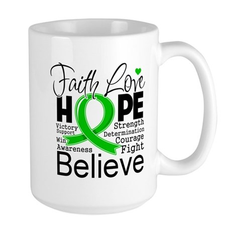 Faith Love Hope BMT SCT Large Mug