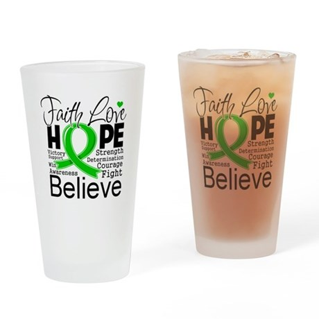 Faith Love Hope BMT SCT Drinking Glass