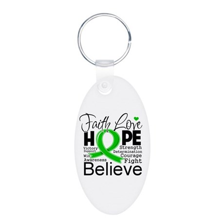 Faith Love Hope BMT SCT Aluminum Oval Keychain