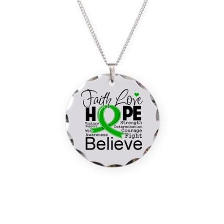 Faith Love Hope BMT SCT Necklace Circle Charm