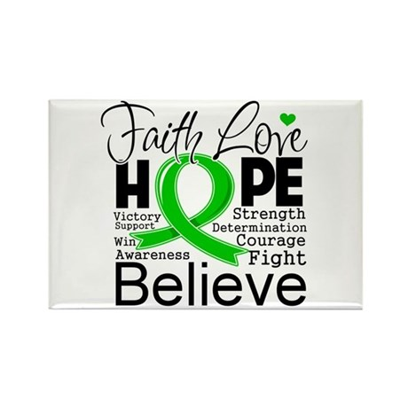 Faith Love Hope BMT SCT Rectangle Magnet (100 pack