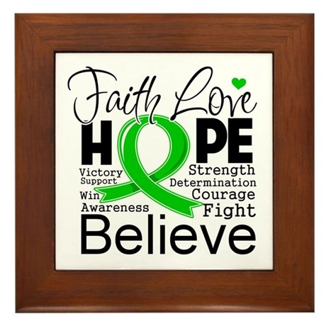 Faith Love Hope BMT SCT Framed Tile