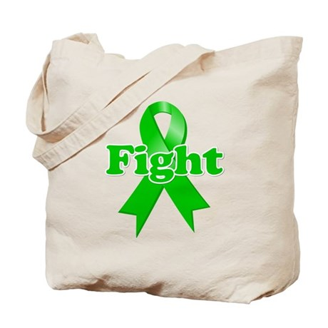 Green Ribbon FIGHT Tote Bag