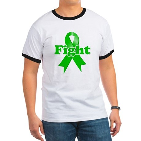 Green Ribbon FIGHT Ringer T