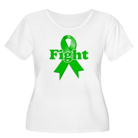 Green Ribbon FIGHT Women's Plus Size Scoop Neck T-