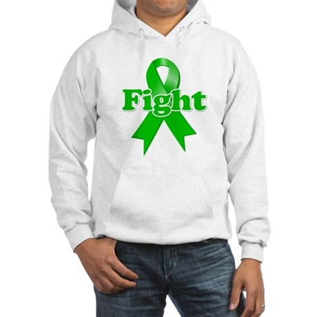 Green Ribbon FIGHT Hooded Sweatshirt