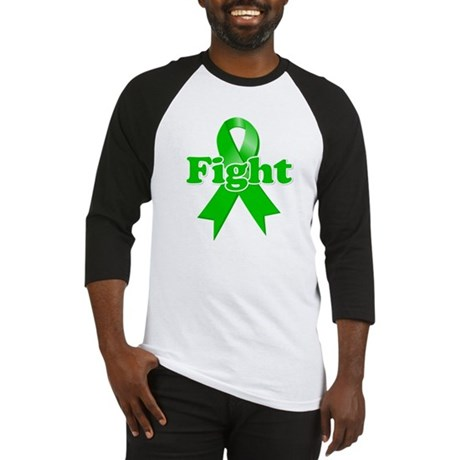 Green Ribbon FIGHT Baseball Jersey
