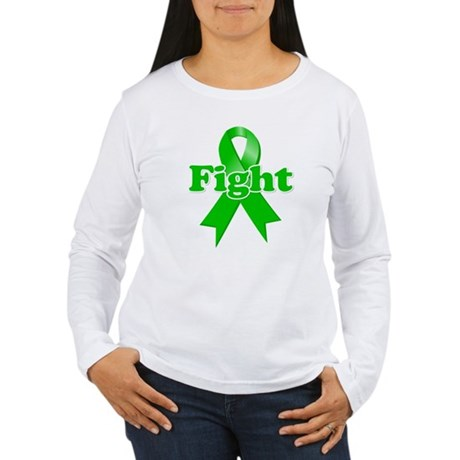 Green Ribbon FIGHT Women's Long Sleeve T-Shirt