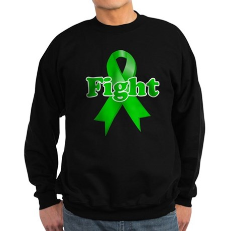 Green Ribbon FIGHT Sweatshirt (dark)