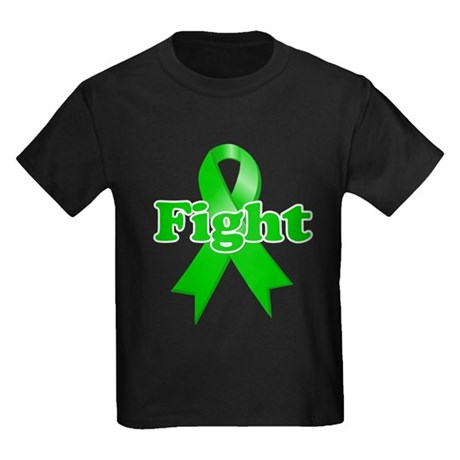 Green Ribbon FIGHT Kids Dark T-Shirt