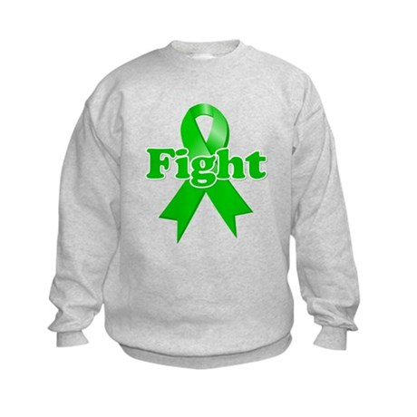Green Ribbon FIGHT Kids Sweatshirt
