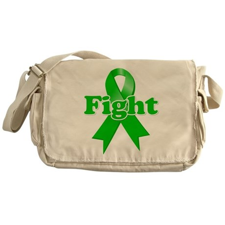 Green Ribbon FIGHT Messenger Bag