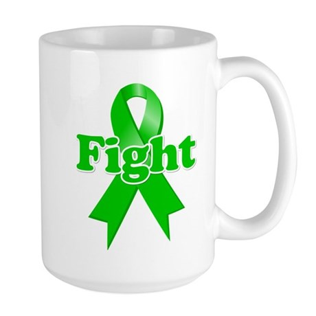 Green Ribbon FIGHT Large Mug