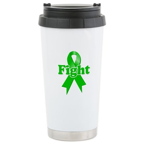 Green Ribbon FIGHT Ceramic Travel Mug