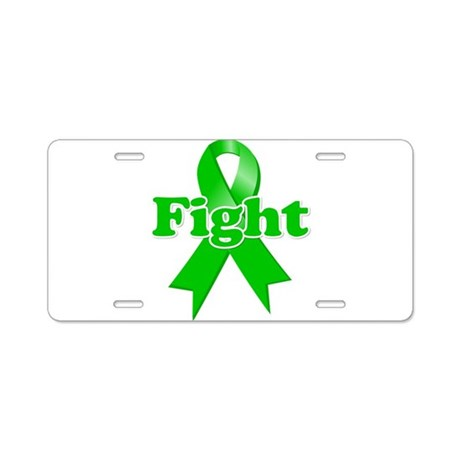 Green Ribbon FIGHT Aluminum License Plate