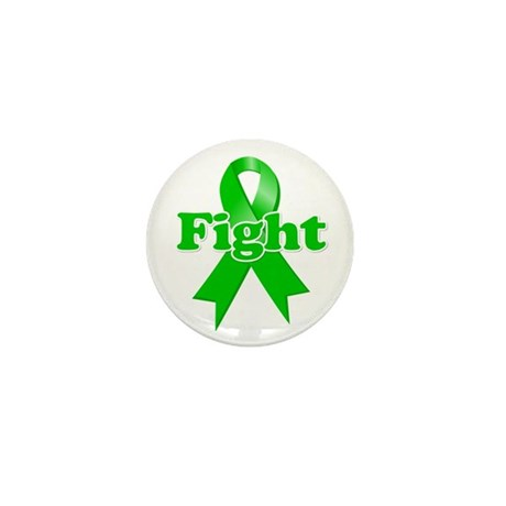 Green Ribbon FIGHT Mini Button (10 pack)