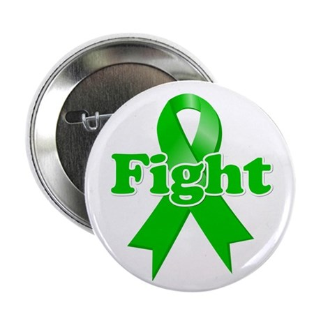 "Green Ribbon FIGHT 2.25"" Button (10 pack)"