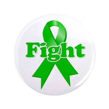 "Green Ribbon FIGHT 3.5"" Button (100 pack)"