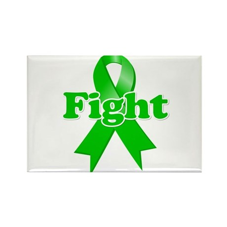 Green Ribbon FIGHT Rectangle Magnet (100 pack)