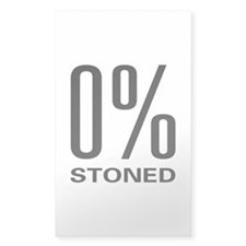 0% Stoned Rectangle Decal