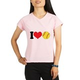 I Heart Softball Gift Performance Dry T-Shirt