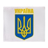 """Ukraine COA"" Throw Blanket"