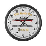 USS Mobile Bay CG-53 Large Wall Clock