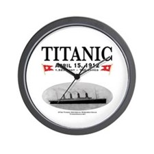"Titanic Ghost Ship 10"" Wall Clock (white)"