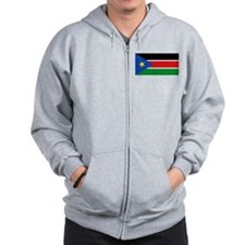 South Sudan Flag Zip Hoodie