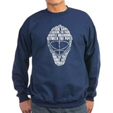 Hockey Goalie Mask Text Sweatshirt