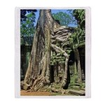 Te Phrom Tree Overgrowth 8 Throw Blanket