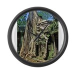 Te Phrom Tree Overgrowth 8 Large Wall Clock