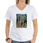 Te Phrom Tree Overgrowth 8 Women's V-Neck T-Shirt