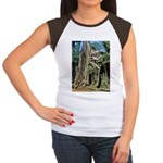 Te Phrom Tree Overgrowth 8 Women's Cap Sleeve T-Sh