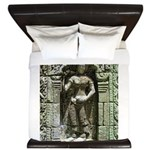 Te Prohm Temple Wall Carvings King Duvet