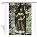 Te Prohm Temple Wall Carvings Shower Curtain