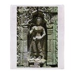 Te Prohm Temple Wall Carvings Throw Blanket